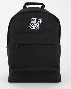 Sik Silk Black SS-15696 Large Logo Schoolbag**RRP £35.00**