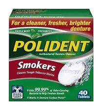 Polident Smokers, Antibacterial Denture Cleanser 40 Each