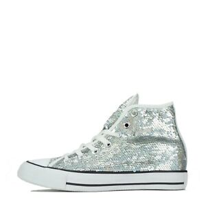 Converse Chuck Taylor All Star Hi Holiday Party Women's Trainers Shoes Sequin