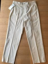 Eddie Bauer Mens Flat Front Cotton/Poly Pants Sand 38 x 34 Nos Usa 4