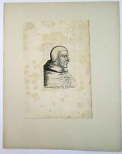 Portrait à l'eau forte, Radulphus Cardinal de Chevriers