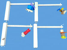 LOT OF 4 CAGE TOP BIRD PERCHES,PLAY GYMS WITH CHEW TOYS