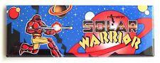 Solar Warrior Marquee FRIDGE MAGNET (1.5 x 4.5 inches) arcade video game
