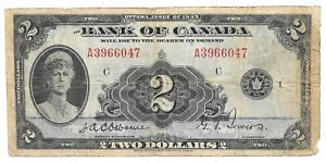 1935 Bank of Canada 2 TWO DOLLARS