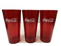 6 Doz Coca Cola Red Textured Tumbler Cups 24oz  **NEW** CASE of 72