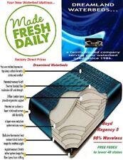 King/Cal K Boyd Regency 5-98% Waveless Tethered Waterbed Mattress+Drain/Fill Kit