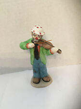 Vintage Rare Flambro Emmett Kelly Jr. Collection Clown Playing Violin Fiddle