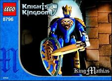 LEGO CASTLE  KNIGHTS KINGDOM II SET # 8796 KING MATHIAS (SERIES 2)