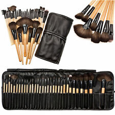 32pcs Professional Makeup Brush Set Soft Cosmetic Eyebrow Shadow Kit + Pouch Bag