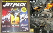 Jet pack (mig 29-f22 raptor-f 16) & air conflicts secret wars new & sealed
