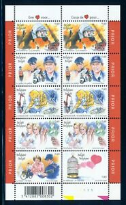 BELGIUM 2003 MINT NH SHEET OF 10 #1945, LOVE FOR SERVICE OCCUPATIONS !!  M2-79