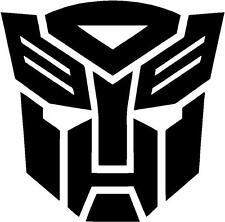 (2) WHITE Transformers Autobot Vinyl Decal Sticker Car Hood Window Laptop