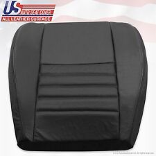 1999-2004 Ford Mustang GT 2-Door Driver Bottom Perforated Leather Seat Cover Blk