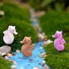 3x Miniature Dollhouse Bonsai Fairy Garden Landscape Lovely Seahorse Decor SP