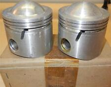 """1959-ONLY Matchless G12 650cc NOS 72mm +.060"""" Hepolite #15036 pistons + pins -86"""