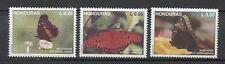 25080) HONDURAS 1992 MNH** Nuovi** Butteflies Farfalle 3v