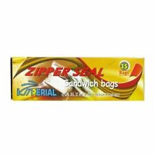 Imperial Sandwich Zipper Bags, 35ct, Pack of 2, Packaging May Vary