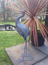 Metal Heron Garden Bird Patio Balcony Garden Ornament Free Standing NEW