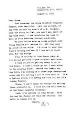 "Original 1973 typed letter from AL WILLIAMSON signed ""AL""."