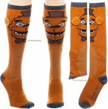 """Five Nights At Freddy's Costume Cosplay """"Freddy"""" Character Knee Socks WITH EARS!"""