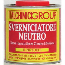 SVERNICIATORE NEUTRO EXTRA FORTE LEGNO FERRO RIMUOVI ELIMINA VERNICE 750 ML.