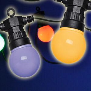 PARTY Lichterkette bunt OUTDOOR 20 Glühbirnen 100 LED´s 12,5m Pavillon Partyzelt