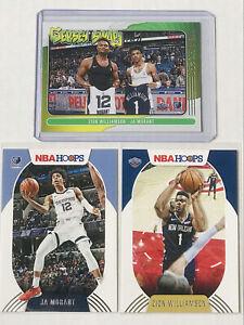 2020-21 Panini NBA Hoops Jersey Swap Zion Williamson & Ja Morant#10 + 2Base Card