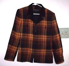 Kasper & Company Womens Suit Coat size 10 Jacket Black & Brown  -HGG