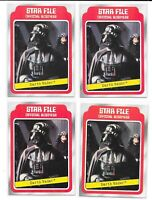 (4) 1980 Topps Empire Strikes Back Series 1 Darth Vader Star Wars #10 Disney ESB