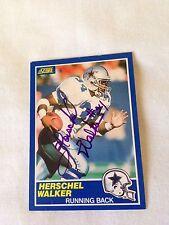 Herschel Walker VINTAGE HAND SIGNED 1989 Score Card w/COA
