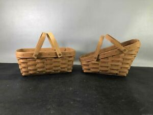 2 Small Longaberger Baskets - Great Condition