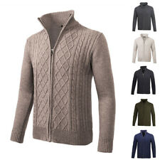 JUMPERS CARDIGAN FOR MEN SWEATERS STAND COLLAR THIN KNITWEAR JACKET COAT TOPS
