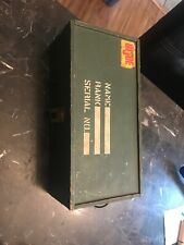 Vintage G.I. JOE WOODEN BOX FOOT LOCKER, BOX ONLY!