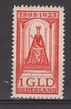 NVPH Netherlands Nederland nr. 129 MLH ong 1923 Wilhelmina Pays Bas KRAKKELEE
