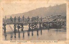 AK Kronprinzenbrücke über die Maas b. Sivry Feldpost Pferde Lazarett der 5 Armee