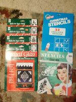 Vtg Sealed 1969 Christmas Holiday Stencils Glass Wax Windows Mirrors + More!