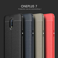 Luxurry Shockproof Rubber Ultra Slim TPU Leather Back Case Cover For OnePlus 7