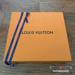 """🔥NEW LOUIS VUITTON Large Magnetic Empty Neverfull Gift Box 15""""x14""""x3.5"""" Ribbon"""