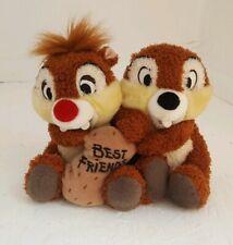 CHIP N DALE Disneyland Paris Chip and Dale Best Friends Plush Peanut Message
