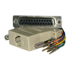 RS232 RS422 RS485 DB25 Female to 8P8C RJ45 Female Modular Adapter Connector