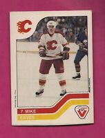 RARE 1983-84 FLAMES MIKE EAVES  VACHON FOOD CARD