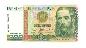 Peru 1000 Ints - banknote -  Year 1988 - UNC