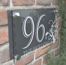 Clear Acrylic House Sign Modern Decorative Door Number Name Plaques Dec4-24WA