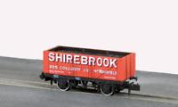 Peco NR-P413 N Gauge 7 Plank Wagon, Shirebrook Colliery