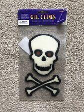 HALLOWEEN Crâne Gel Clings 2 pièces par paquet parti du plaisir Fenêtre dec