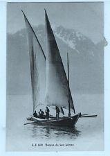 1905-Carte Correspondance Genève via St.Cyr - Barque sur le Lac Léman-Yt.n°19