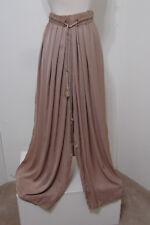 GAUDI Palazzo Pants Toffee Elastic Waist Wide W/Tassel Cord Tie M NWOT