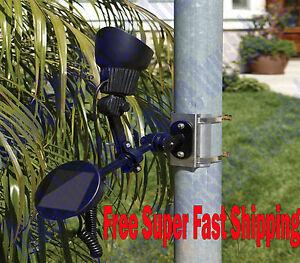 LED Solar Powered Flag Pole Spot Light Spotlight Flagpole Dusk To Dawn