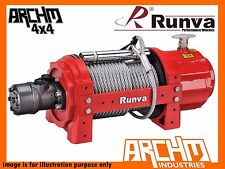 RUNVA INDUSTRIAL SERIES RED 15000LB / 6804kg WITH STEEL CABLE RECOVERY TOW WINCH