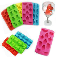 Silicone Ice Pop Out Tray Mold Cube Mould Easy Jelly Maker Slot Freezer Cocktail